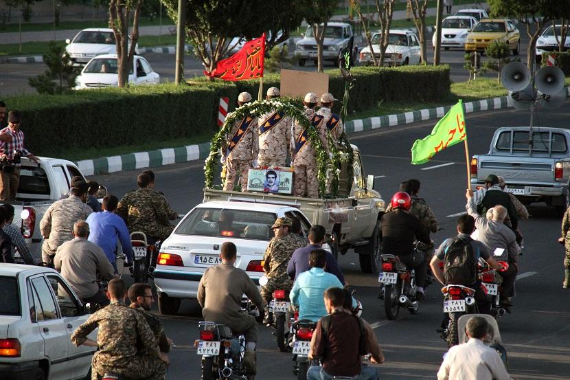 استقبال از شهید در زنجان