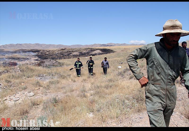 آتش سوزی در زنجان