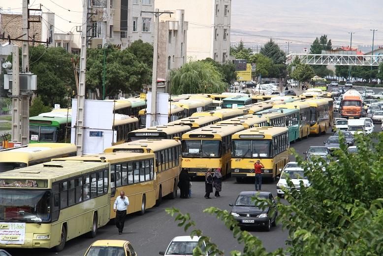تجمع اتوبوسهای شهری