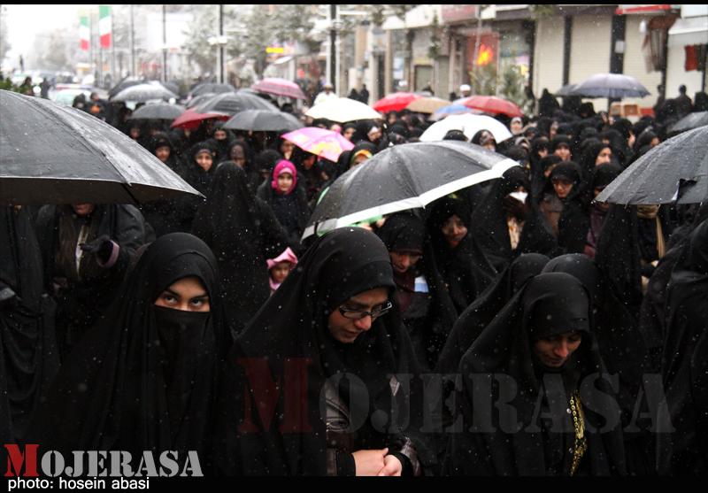 حرکت خود جوش مردم زنجان در حمایت از مواضع رهبری